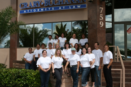 Crary Buchanan attorneys and staff led the 2010 blood drive on 9-11 that set a record for donations in Martin County.