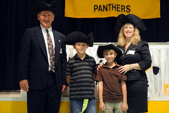 From left, Larry Crary, Ethan Pitt, Ethan Norman and Linda Weiksnar.
