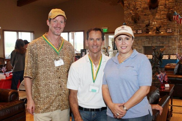 Scott Turnbull, Mike Crary and Jennifer Williamson participated in the first annual Sporting Clays Fun Shoot to raise funds to bring the Vietnam Traveling Wall to Martin County.